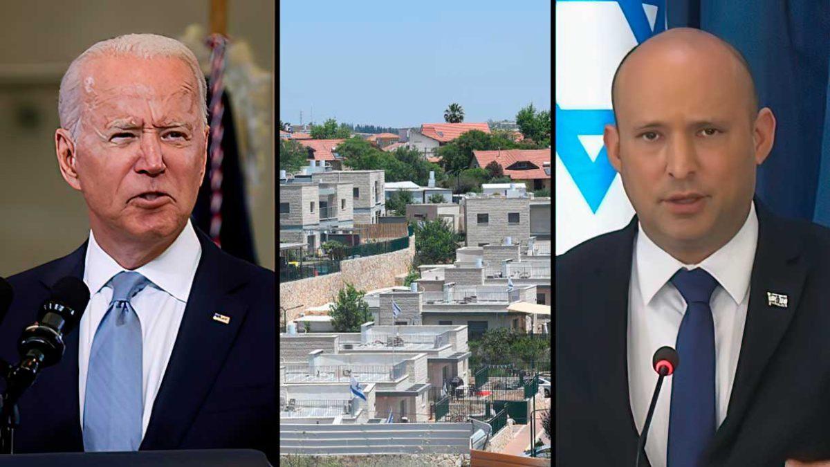 "Mensaje privado de Biden a Bennett: ""detenga la construcción en Cisjordania"""