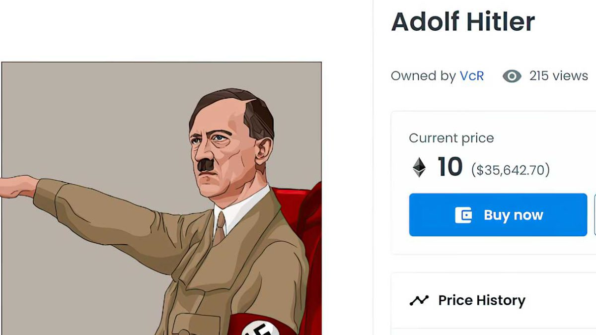 "OpenSea, el mayor mercado de NFT, vende ""obras de arte"" que alaban a Hitler"